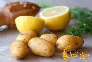 Mặt nạ chanh - khoai tây làm đẹp và dưỡng trắng da