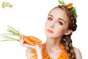 Làm đẹp dưỡng trắng da không bắt nắng với với cà rốt