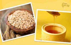 Làm sạch và dưỡng trắng da với mật ong - yến mạch