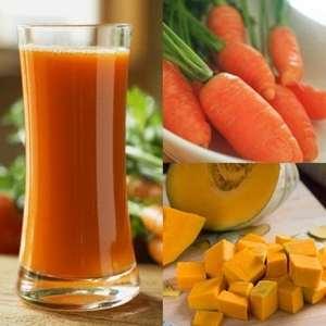 Sinh tố cà rốt – bí đỏ dành cho da mụn