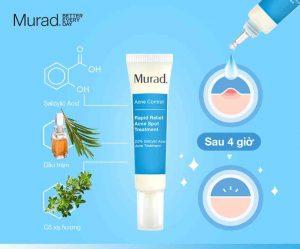 [Review] Kem trị mụn Murad Rapid Relief Acne Spot Treatment