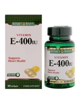 Viên Uống Vitamin E 400IU Nature's Bounty Hộp 30 Viên Của Mỹ
