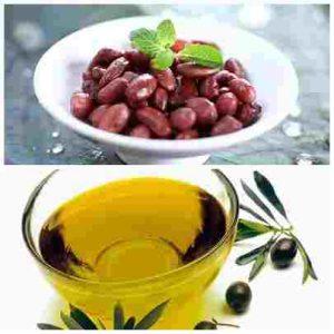 Mặt nạ dưỡng da bằng đậu đỏ và dầu oliu