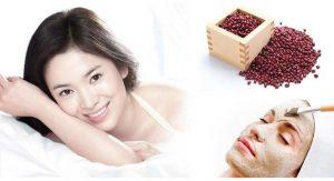 Mặt nạ dưỡng trắng và phục hồi da từ đậu đỏ