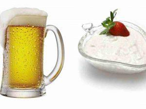 Mặt nạ trị mụn bằng bia và sữa chua cho da nhạy cảm