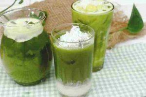 Sinh tố đậu xanh rau má - đậu xanh trị mụn