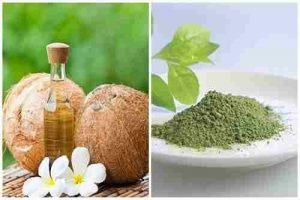 Mặt nạ dầu dừa và trà xanh