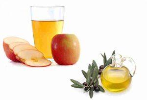 Mặt nạ dầu oliu giấm táo
