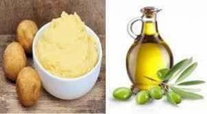 Mặt nạ khoai tây dầu oliu
