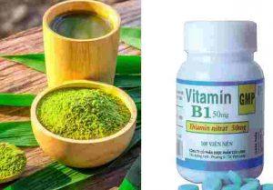 Mặt nạ vitamin B1 trà xanh