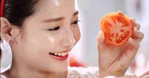 Rửa mặt bằng cà chua
