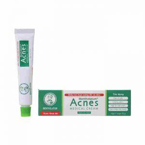 Kem trị mụn Acnes Medical Cream điều trị làm giảm mụn sưng đỏ