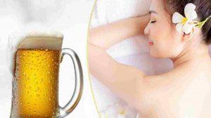 Tắm trắng tự nhiên với bia