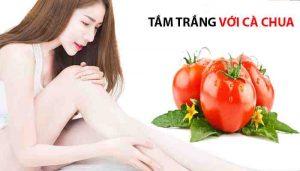 ắm trắng da toàn thân bằng cà chua