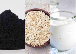 Tắm trắng than hoạt tính yến mạch sữa chua không đường